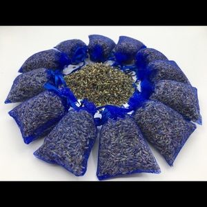 12 Blue Organic Lavender Sachet Potpourri Bags